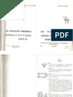 Glosario Mínimo de Términos de Arquitectura Virreynal