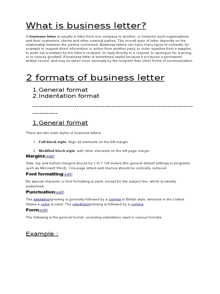 What Is Business Letter Text Typography