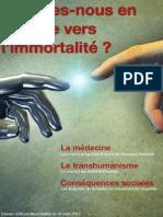 Sommes-nous en marche vers l'immortalité ? par Maud Buffier