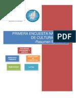 1era Encuesta de Cultura de Paz (Resumen+ejecutivo)