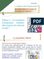 Thème 212 - Evolution du rôle des instances d'intégration.ppt