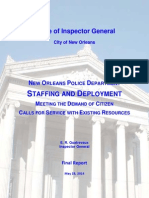New Orleans Police Department Staffing And Deployment