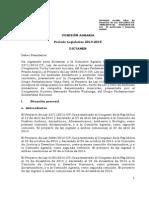 Dictamen Recaído Sobre Los Proyectos de Ley 3371-2013-CR, 3888-2014-CR, 4100-2014-CR, Ley de Protección y Bienestar Animal.