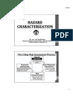 Hazard Assessment (Hazards Charaterization)