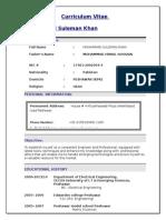 salman's CV