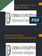 Informe Power 02 Abril - 08 Abril 2014