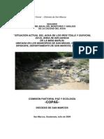 Segundo Informe Anual Del Monitoreo y Analisis de La Calidad Del Agua-COPAE