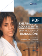 Embarazo en adolescentes R.D.