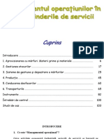Managementul Operatiunilor in Intreprinderile de Servicii
