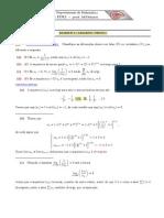 Gabarito Séries e Equações Diferenciais.