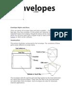 Envelop Styles Sizes