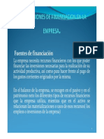 Decisiones de Financiacion de La Empresa