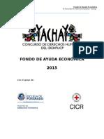 Fondo de Ayuda Económica Yachay 2015