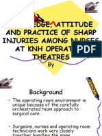 Knowledge, Attitude and Practices ON needle injuries Among Nurses at KN