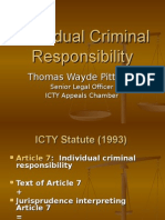 Individual Criminal Responsibility