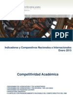 Indicadores y Comparativos Institucionales Enero 2015