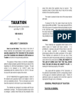Taxation Law Reviewer by Abelardo Domondon