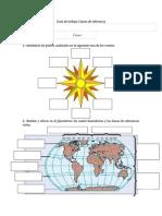 Guia de Ejercicio Tema Linea Del Ecuador Meridiano de Greenwich Tropicos Circulos Polares y Hemisferios