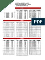 Matrícula 2015_promedios Menor a 13-5