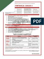 Informacion de Matrícula 2015 I