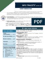 Info-TRACEESS Numéro 26, le 16 Mars 2015