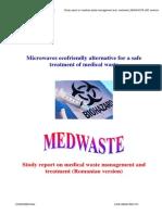 Raportul Studiului Privind Managementul Şi Tratarea Deşeurilor Medicale D1.2 MEDWASTE_RO