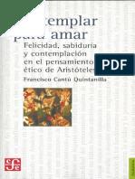 Cantu Quintillana - Contemplar Para Amar, En Aristoteles (Felicidad, Sabiduria y Contemplacion)