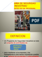 Programa de Seguridad Industrial Nov 2014