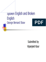 Spoken English and Broken English