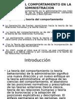 TEORIA DEL COMPORTAMIENTO EN LA ADMINISTRACION.ppt