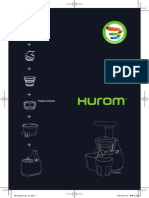 Hurom+HU-500+DG+manual+English