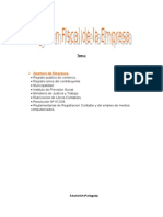 Regimen Fiscal - Apertura de Empresas en Paraguay