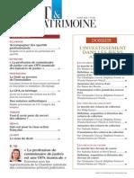 Sommaire de Droit & Patrimoine 245 Mars 2015