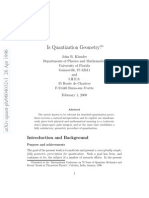 Is Quantization Geometry