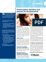 Contraception Questions and Answers for Pharmacists