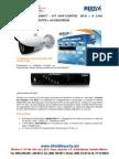 SHIELD SECURITY - MERIVA NVR106KIT - NVR 106POE  8CH + 4 CAM BULLET MOB130PE + ACCESORIOS