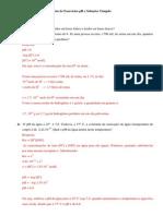 Bioquimica Lista Exercicio 1 PH Solucoes Tampao Respostas