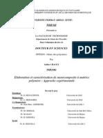 Elaboration et caractérisation de nanocomposite à matrice polymère