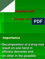 Storage Note