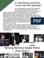 Strong Femme Fatale Films