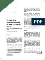 Duek & Inda - Estratificación Social de Weber