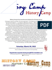 HistoryCamp 2015, the history unconference - flyer with sessions