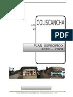 Diagnostico Plan Especifico Coliscancha - 2010-20200
