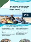 Conflictos mineros en bolivia