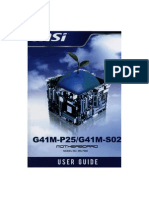 Motherboard Msi g41m-p25 g41m-s02