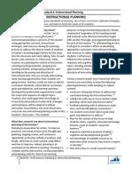 Brief 4 Performance Standard 2 Instructional Planning