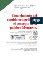 """Estudio del cambio ortográfico y concepto de """"montuvio"""" - 2105"""