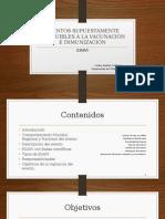 Eventos Supuestamente Atribuibles a La Vacunación e Inmunización