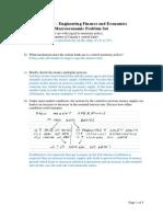 CHE375S - Macroeconomic Problem Set 2015 - Solutions