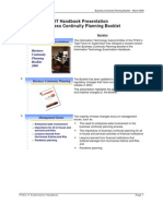 Business Continuity Planning Booklet – March 2008